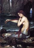 Waterhouse, John William: The Mermaid. Mythicall Fine Art Print/Poster. Sizes: A4/A3/A2/A1 (00848)